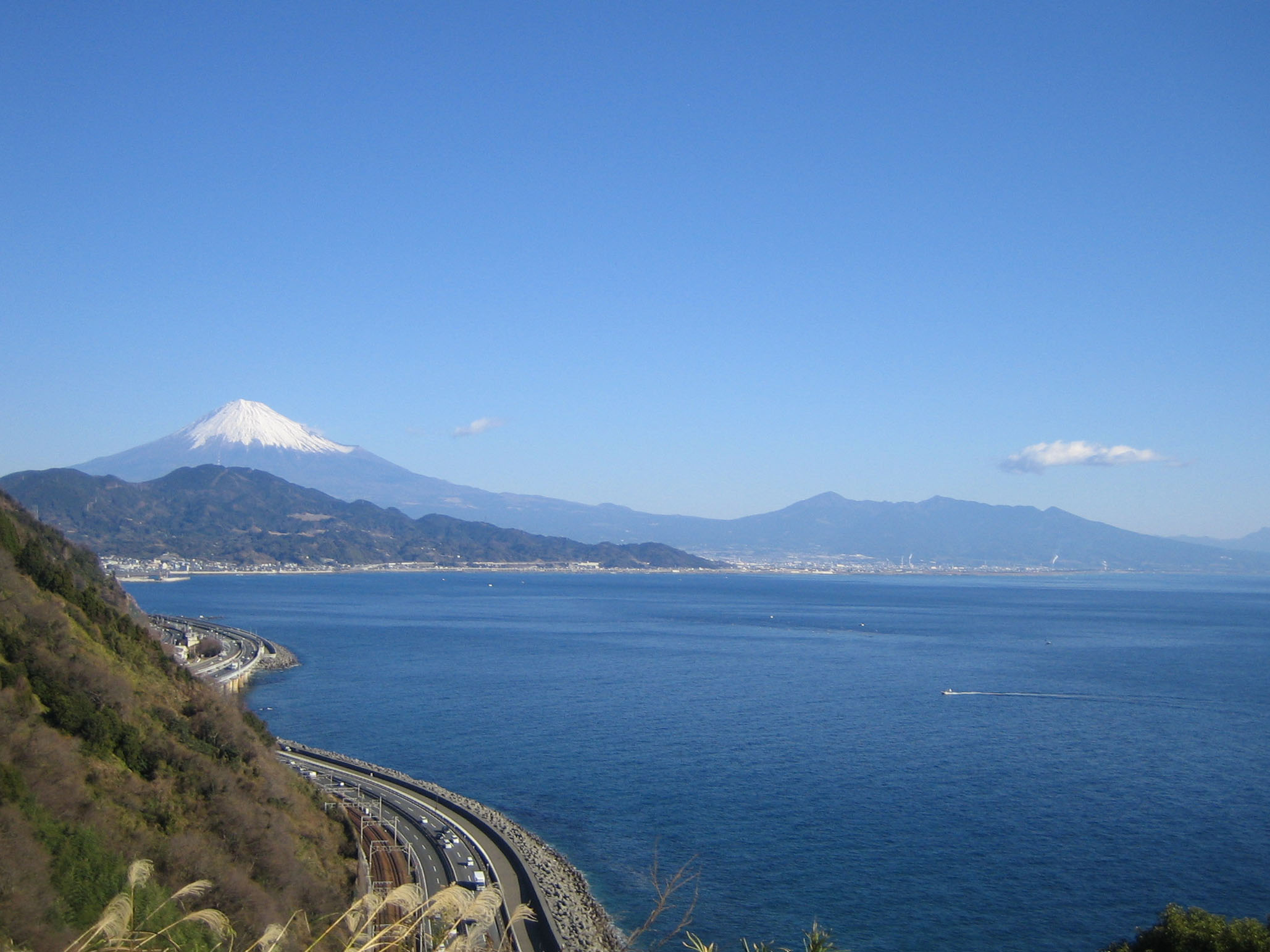 View of Mt. Fuji from SURUGA bay