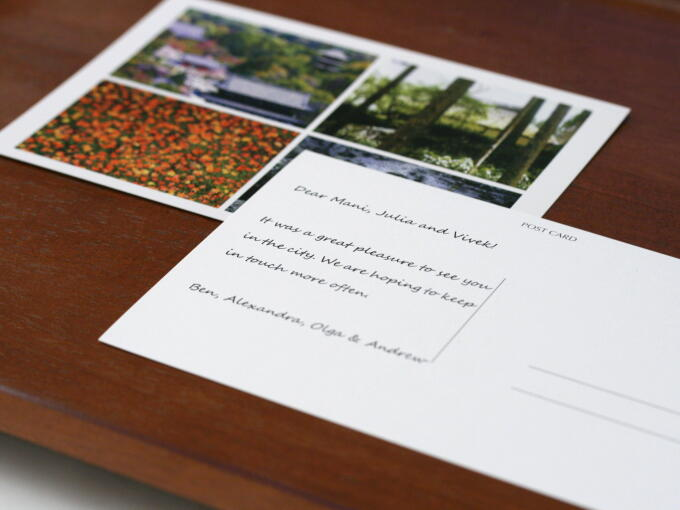 Your gift message printed on postcard can be included for all items in our Gifts category