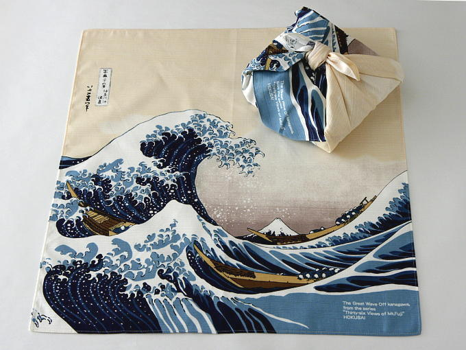 FUROSHIKI having NAMIURA drawing pattern