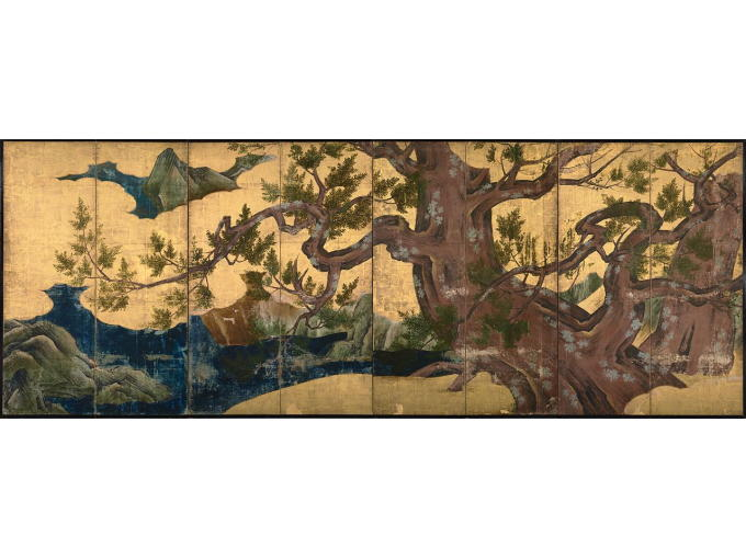 Original painting of Hinokizu Byohbu (170 x 461cm, Japanese national treasure) <br />