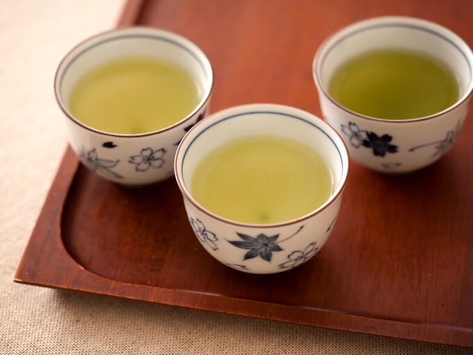 Starting from the left to right, Sencha Superior, Gyokuro Superior, and Sencha Fukamushi Superior