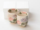 [Limited] AKI no KAZE - pair (handcrafted Teacup)