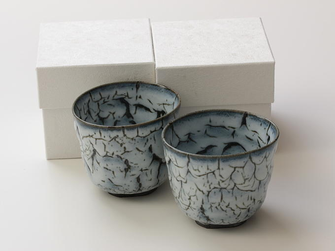 [Limited] KAIRAGI - pair (handcrafted Multi-cup)