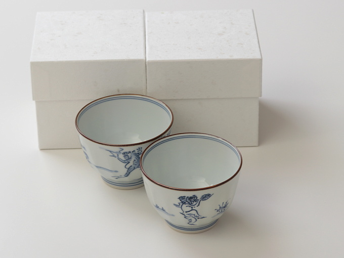 [Limited] KOHZANJI Yunomi - pair (handcrafted Teacup)