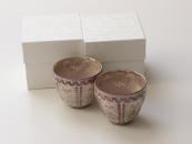 [Limited] SHISAI KAMON Yunomi - pair (handcrafted Teacup)